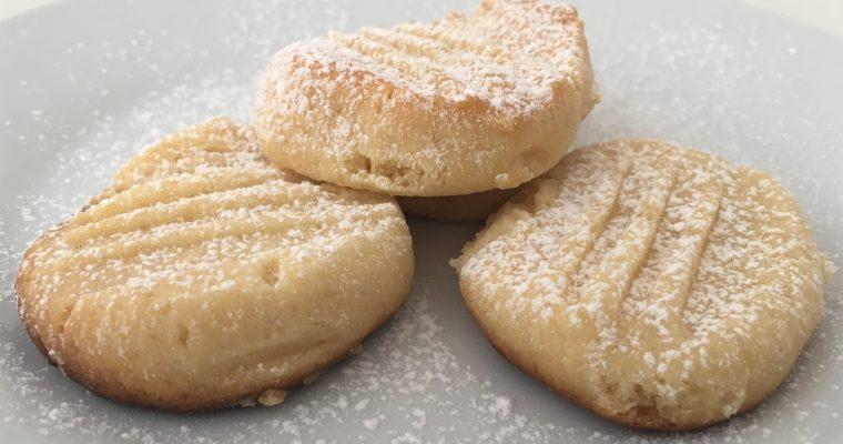 Condensed milk biscuits.